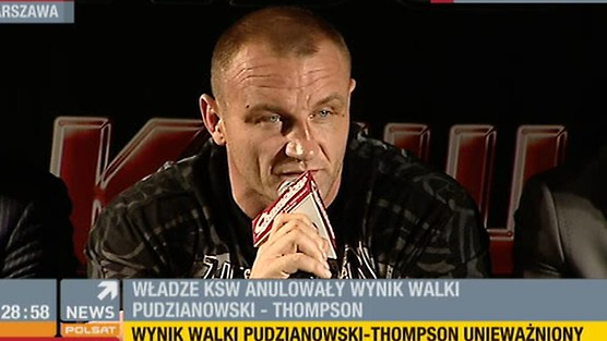 Walka Pudzianowski - Thompson unieważniona!