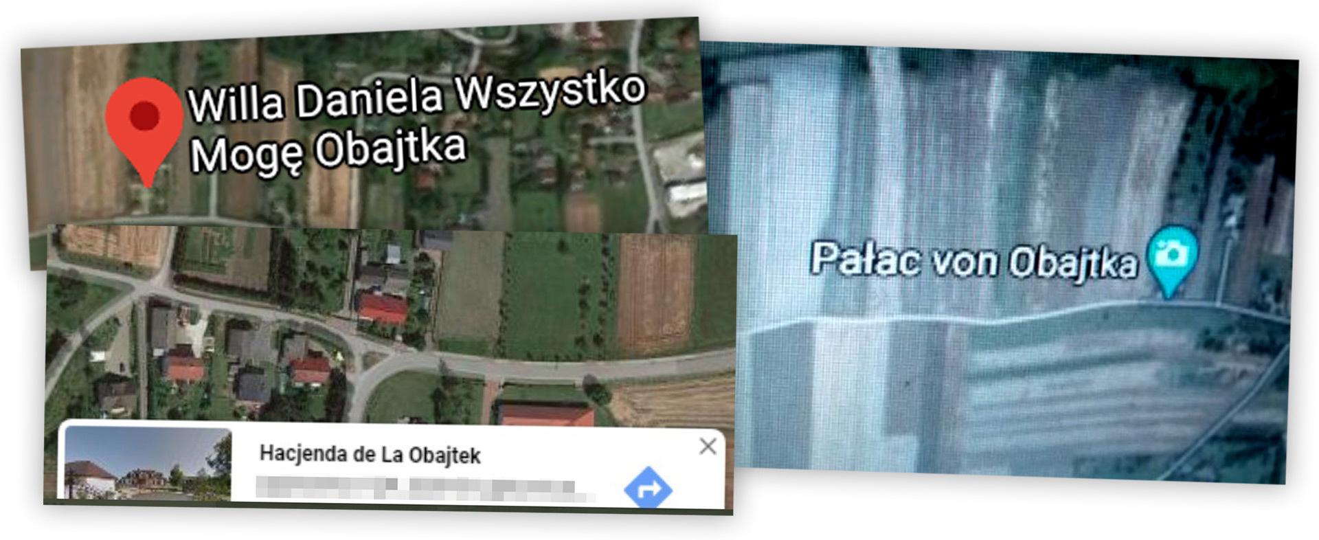 Żarty internautów w mapach Google