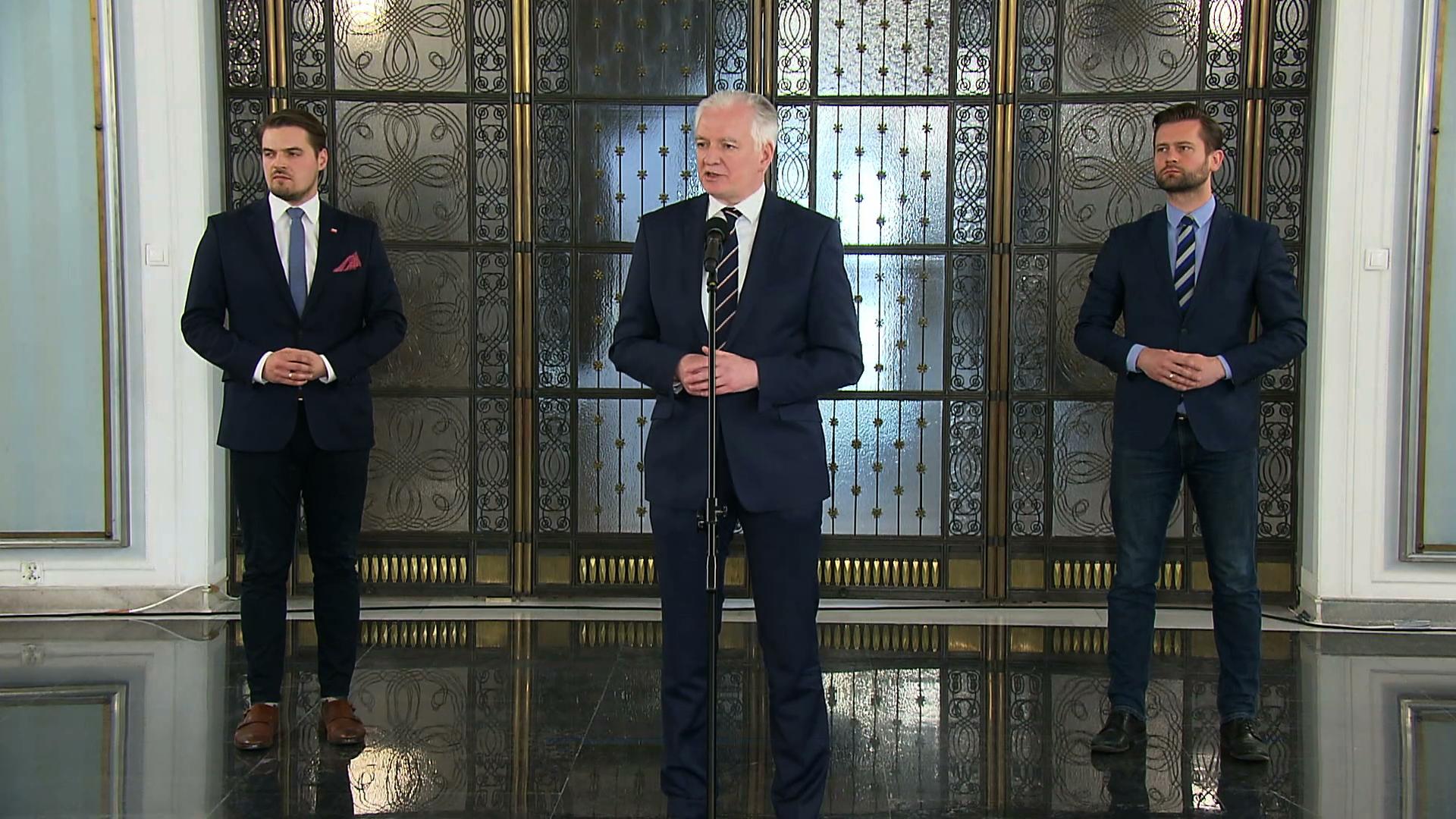 Jarosław Gowin kontra Adam Bielan. PO proponuje Gowinowi przejście na stronę opozycji