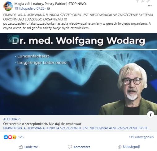 Na Facebooku są rozpowszechniane informacje o rzekomej ingerencji szczepionki w ludzkie DNA