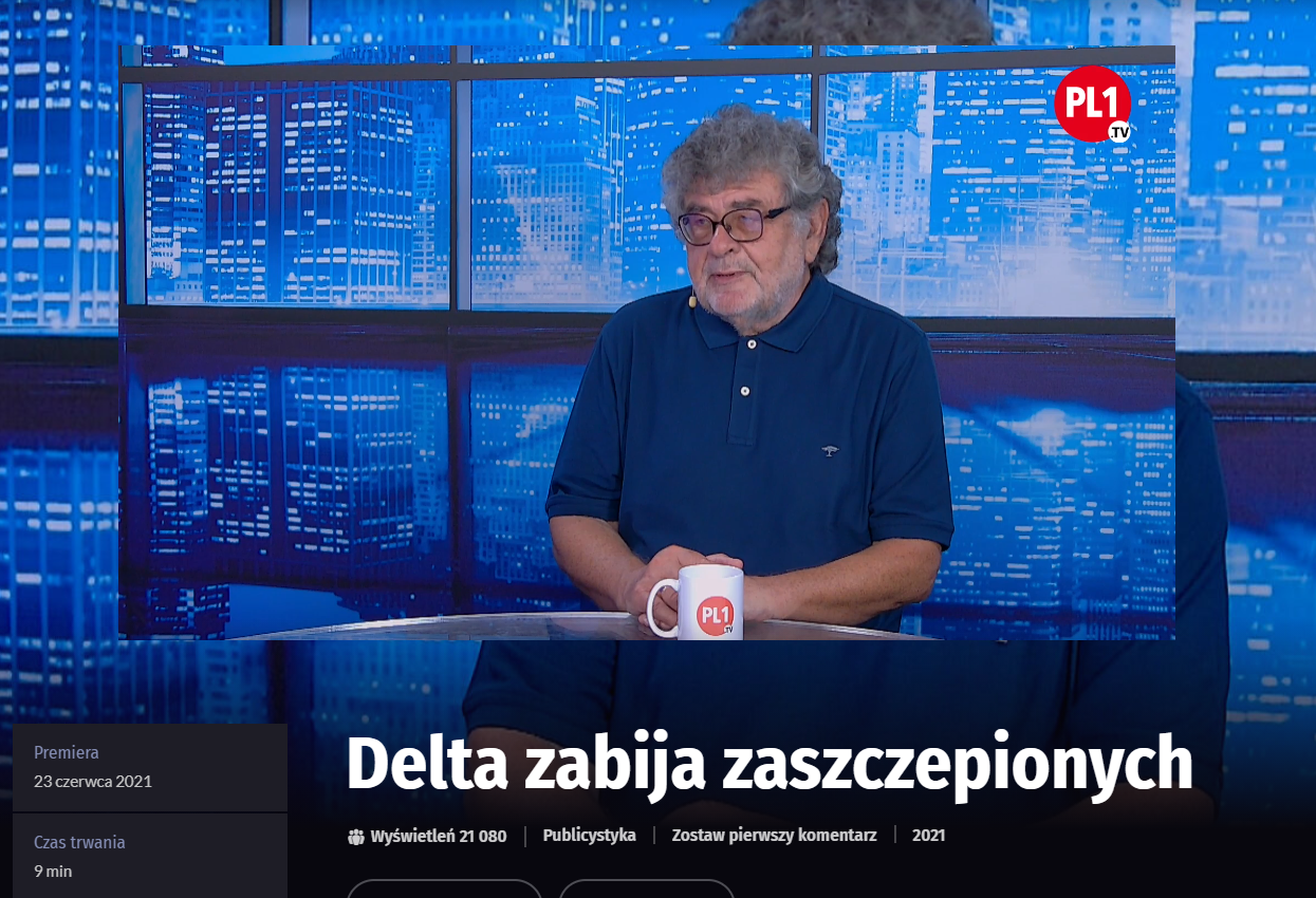 Wprowadzający w błąd wywiad ze Zbigniewem Hałatem dostępny na stronie PL1.tv