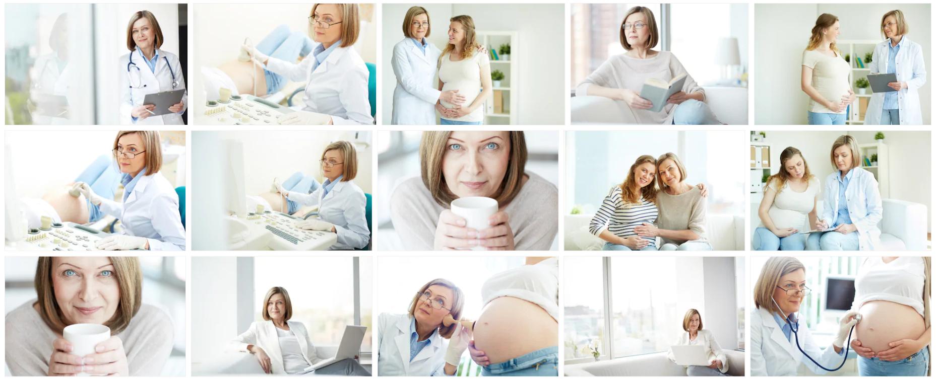 """Różne zdjęcia kobiety, która rzekomo miała być nową """"główną kardiolog Rosji"""""""