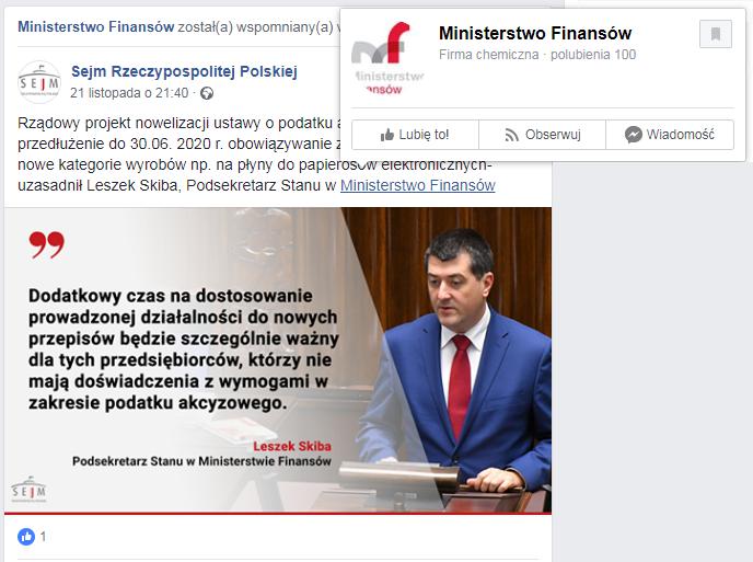 """Mimo informacji o """"firmie chemicznej"""" oficjalny profil Sejmu oznaczył fałszywe konto"""