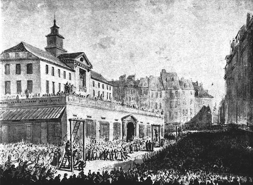 Wieszanie zdrajców na Rynku Starego Miasta, Jan Piotr Norblin, 1794