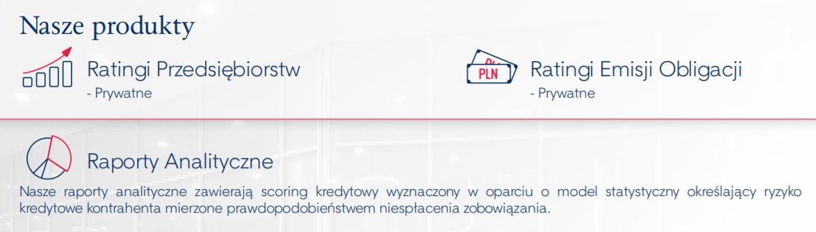 Produkty oferowane przez PAR w folderze o działalności spółki