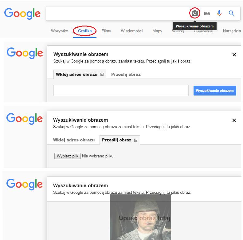 Trzy sposoby wprowadzania grafik do wyszukiwarki Google