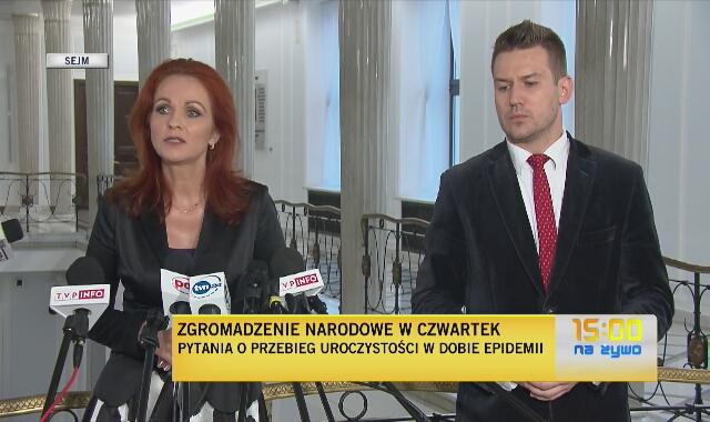 Kaczmarska: kwestia noszenia maseczki podczas Zgromadzenia Narodowego jest decyzją prezydenta