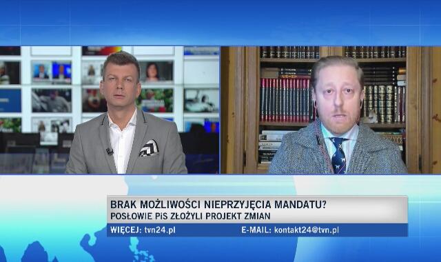 Piotr Dobrowolski o projekcie zmian w przyjmowaniu mandatów: wedle tego projektu to policjant będzie nas karać