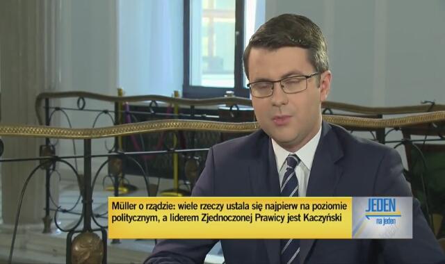 Rzecznik rządu Piotr Mueller o roli Jarosława Kaczyńskiego jako wicepremiera
