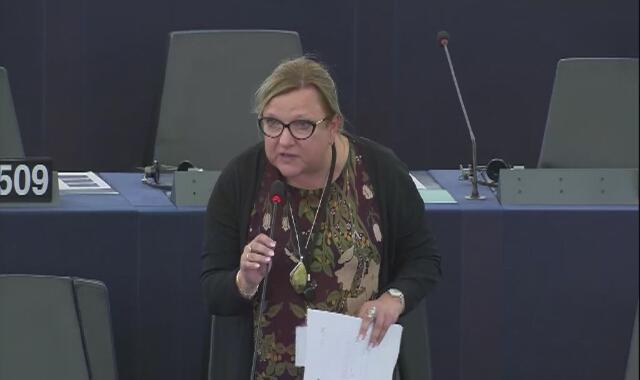 Wystąpienie Beaty Kempy podczas posiedzenia plenarnego Parlamentu Europejskiego 21 października