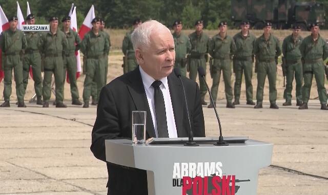 Jarosław Kaczyński o zakupie amerykańskich czołgów dla Wojska Polskiego
