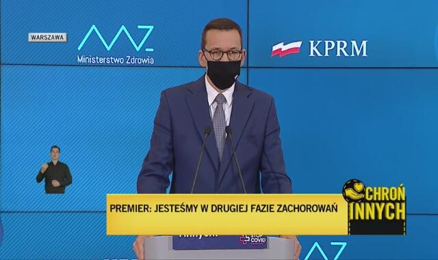 Premier Morawiecki: na dzisiaj nie widzimy takiej konieczności, żeby wprowadzać obowiązek nauki w trybie zdalnym